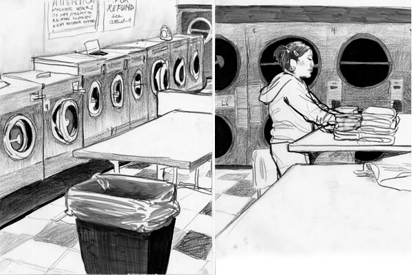 Sketches from laundrymat